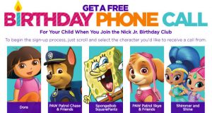 FREE Personalized Birthday Phone Call from Nick Jr. Character