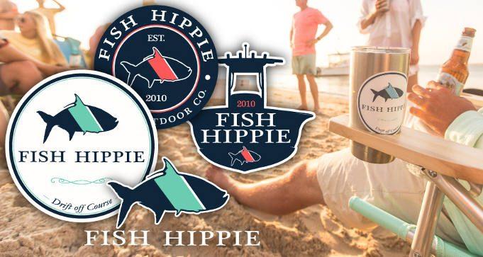 FREE Fish Hippie Stickers