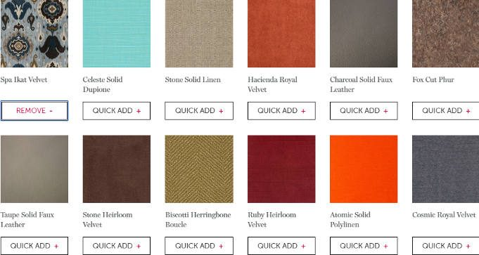 FREE Fabric Swatches from Lovesac