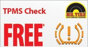 FREE TPMS Light Check at Mr. Tire