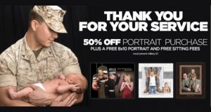 FREE 8x10 Portrait for Military at JCPenney