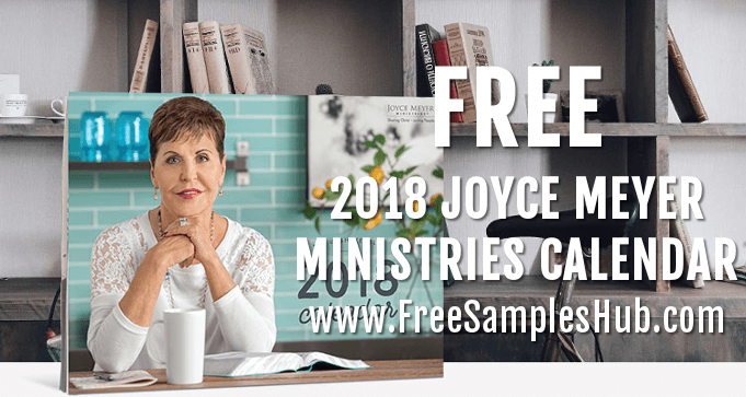 FREE 2018 Joyce Meyer Ministries Calendar