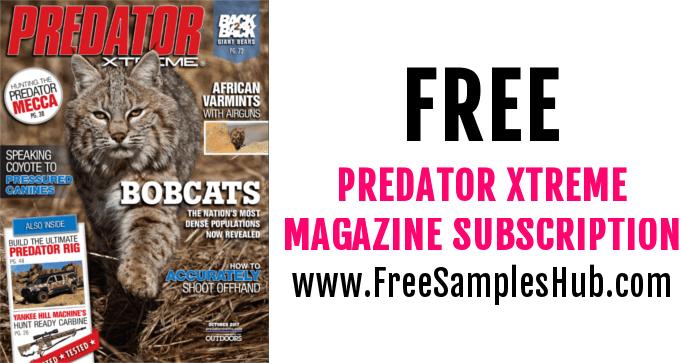 FREE Subscription to Predator Xtreme Magazine