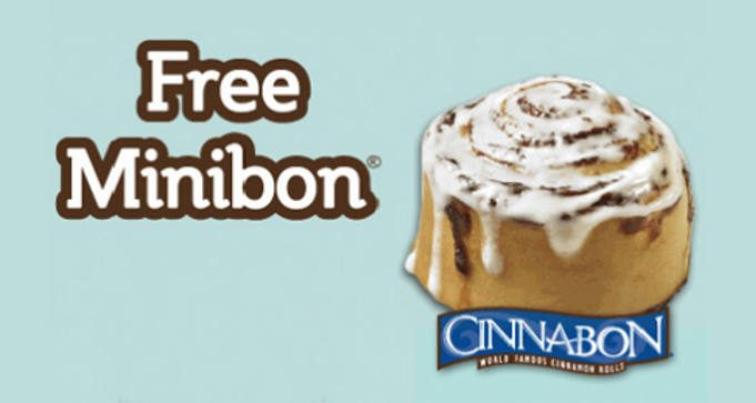 FREE Minibon Roll at Cinnabon