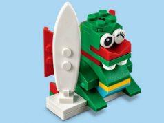FREE LEGO Surfer Dragon Mini Model Build at Lego Stores