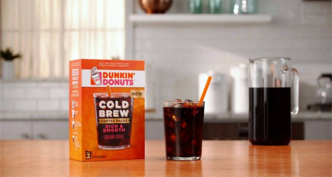 REE Sample Pack of Dunkin Donuts Cold Brew Coffee