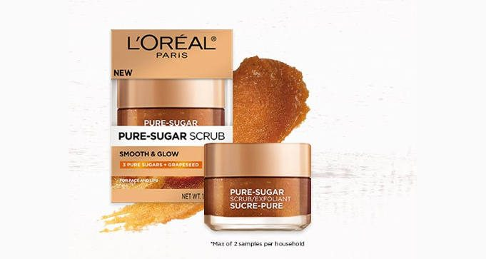 FREE Sample of Loreal Paris Pure-sugar Grapeseed Scrub