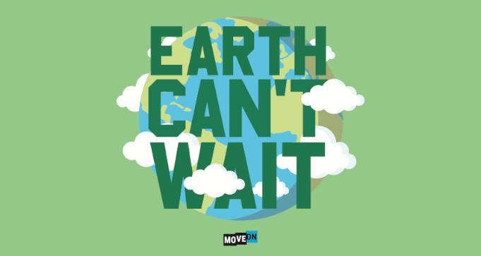 FREE Earth Can't Wait Sticker